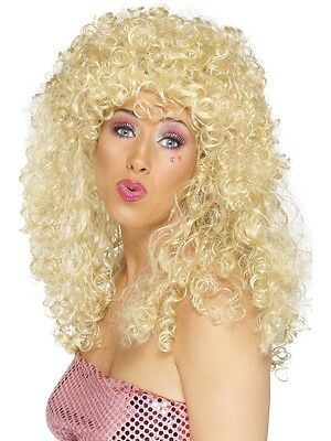 Boogie Babe Long Curly Permed Afro Wig 60s 70s 80s Disco Diva Ladies Fancy Dress