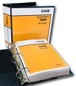 case 1840 uni loader skid steer service repair manual technical shop rh ebay com case 1840 uni loader service manual Case 1840 Parts Diagram