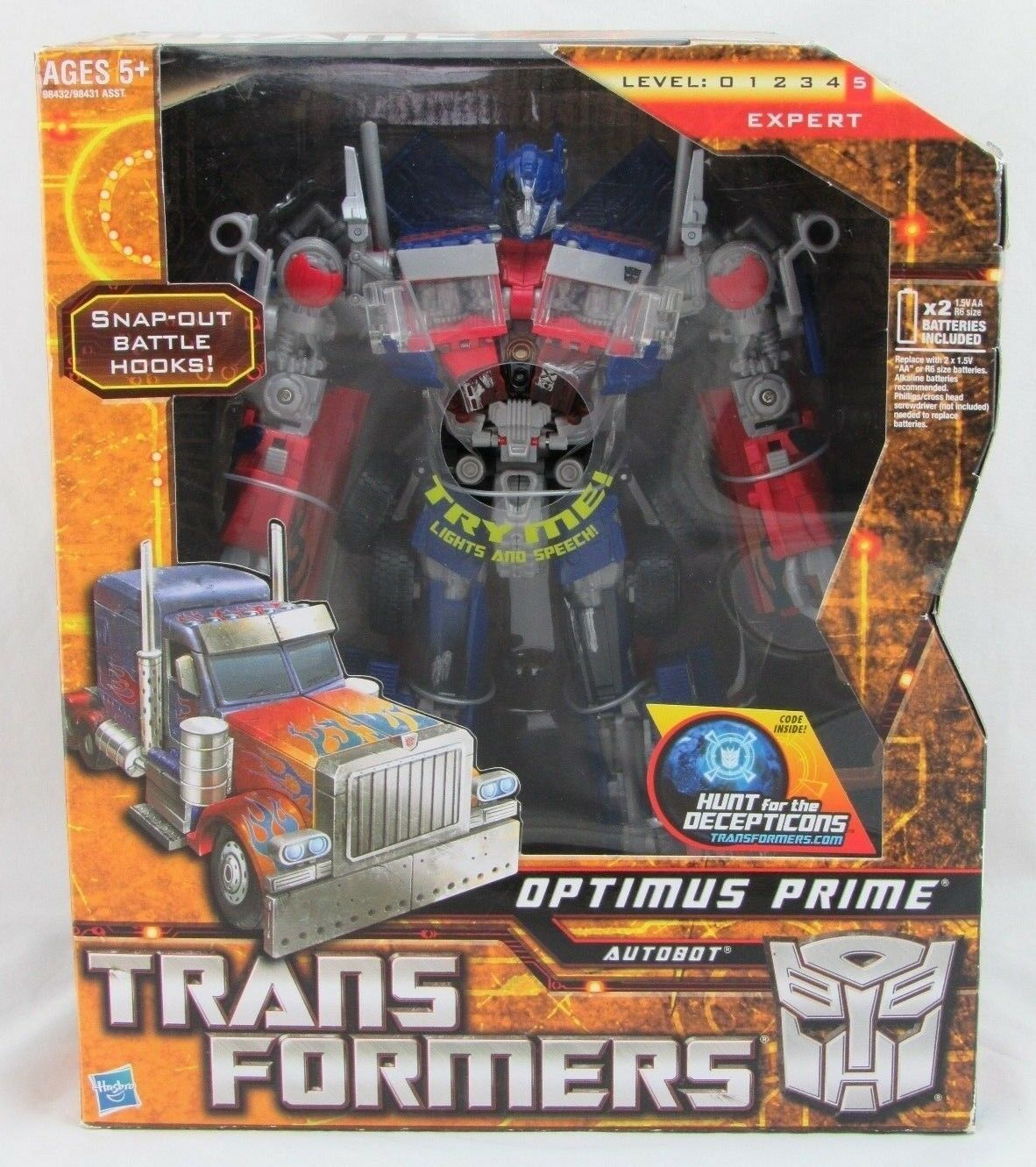 Transformers Optimus Prime Autobot, Hunt for Decepticons, Hasbro 2009, In Box