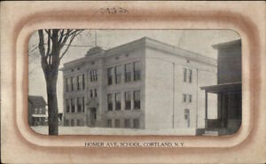 Cortland-NY-Home-Ave-School-c1910-Postcard