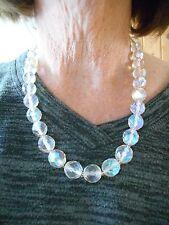 Authentic Vintage GORGEOUS Crystal Bead Round Briolette Necklace