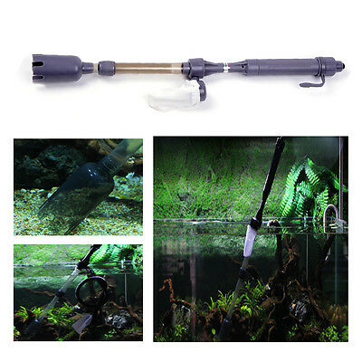 Aquarium Fish Tank Gravel Battery Vacuum Syphon Siphon Cleaner Pump Water Filter