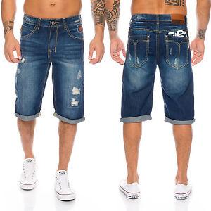 68b5e08e5e76 Das Bild wird geladen Herren-Jeans-Short-Sommer-Bermuda-kurze-Hose-Shorts-