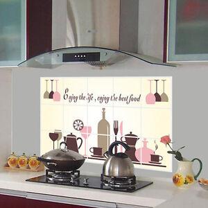 Wine Glass Coffee Cup Home Kitchen Art Decor Wall Sticker