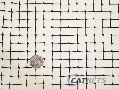 Cat Enclosure Netting 3m x 3m LowVis 19mm Black FREE SHIPPING
