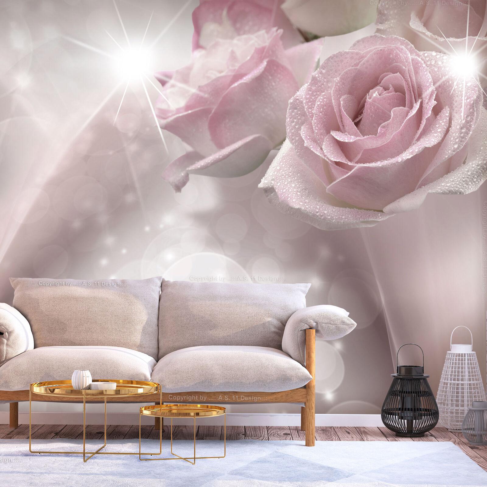 Photo Wallpaper Non-woven (fleece) Self-adhesive Foil pink Flowers b-C-0200-a-a