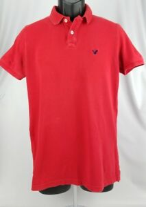 American-Eagle-Polo-Shirt-Short-Sleeve-Red-Size-Extra-Small-Classic-Fit