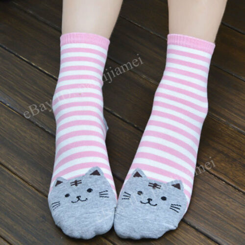 Women-Cute-3D-Cartoon-Animals-Striped-Socks-Cat-Footprints-Cotton-Socks-Floor