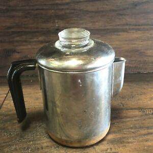 Pre-1968-REVERE-WARE-Coffee-Pot-Maker-6-8-Cup-Percolator-Stove-Top-Copper-Clad