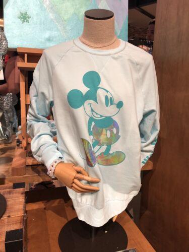 Walt Disney World Mickey Mouse Arendelle Aqua Sweatshirt Pullover Top Shirt S