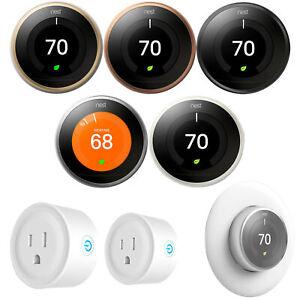 Google Nest Learning Smart Thermostat 3rd Gen Essential Bundle - Choose Color