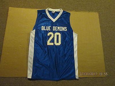 online store e4218 4b8c0 NCAA Depaul Blue Demons #20 Flanagan Adult L New Basketball Jersey | eBay