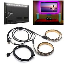 2PCS 50cm 5V 5050 Waterproof RGB USB LED Strip Light Bar TV Background Party Lig