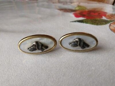 Select Gifts I Love My Dog Gold-Tone Cufflinks /& Money Clip German Wirehaired Pointer