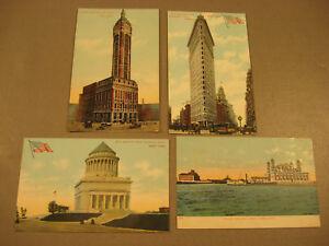 USA New York 4x Stadtmotive um 1910-USA New York 4 AK city shots around 1910 - Uetze, Deutschland - USA New York 4x Stadtmotive um 1910-USA New York 4 AK city shots around 1910 - Uetze, Deutschland