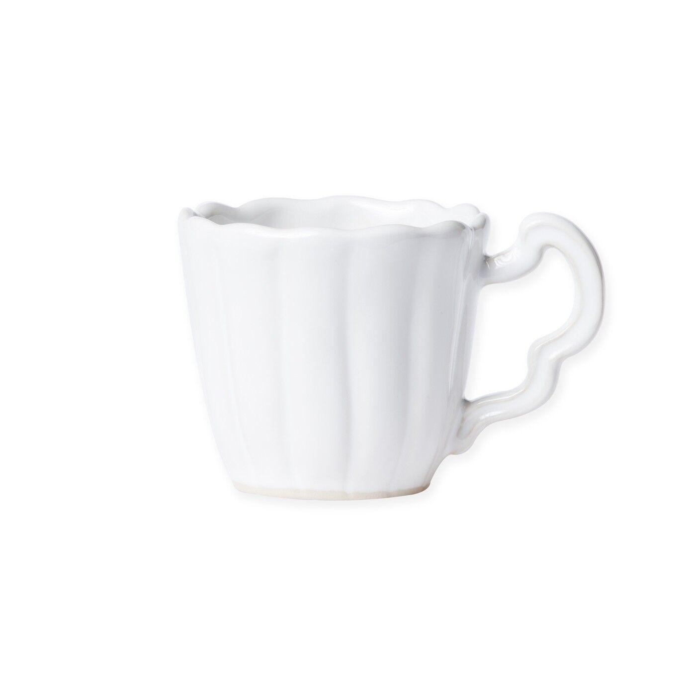 Vietri Incanto Stone Weiß Scallop Mug Mug Mug - Set of 4 c57278