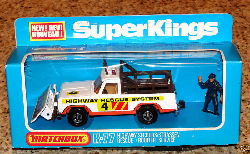 MATCHBOX SUPERKING K-77 Highway  RESCUE camion 1978 Made in England  magasin discount