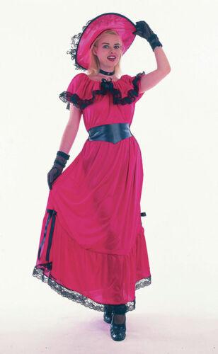 FANCY DRESS SCARLET O HARA CANCAN BURLESQUE COSTUME