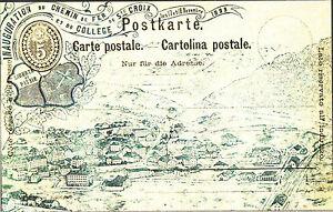 CARTOLINA-D-039-EPOCA-INAUGURATION-DU-CHEMIN-DE-FER-de-SAINTE-CROIX-1893