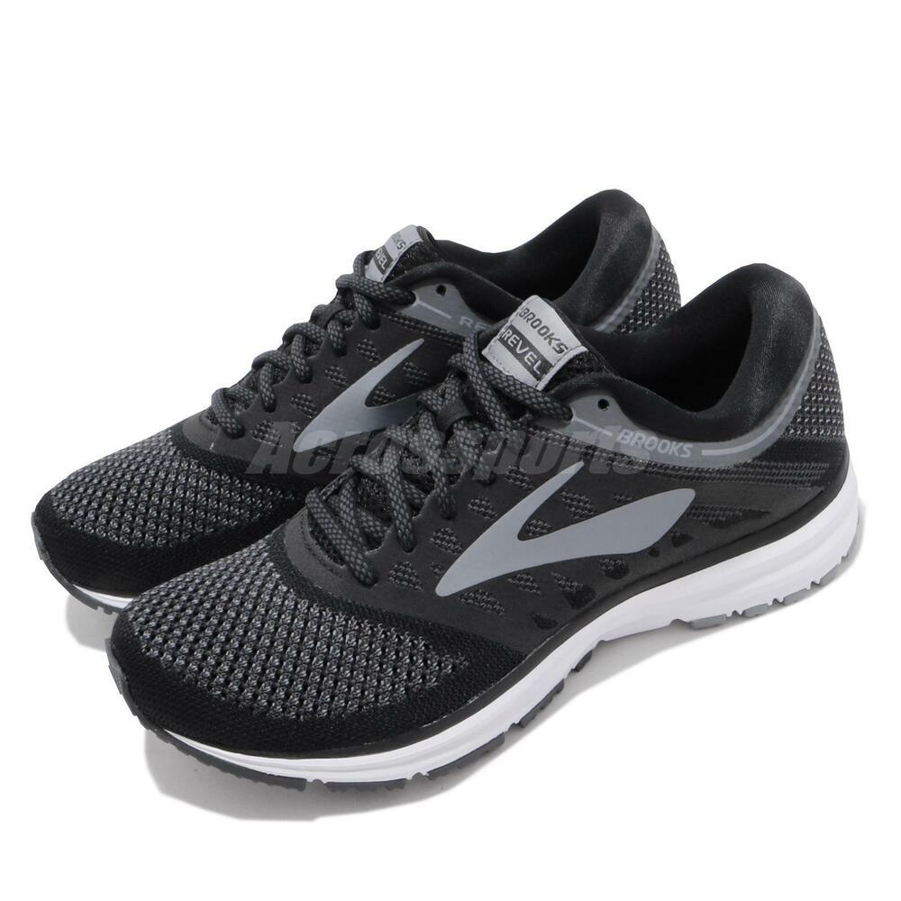 Stable Brooks Revel Black Grey Womens Running Shoes Road Runner 120249 1b Prix ModéRé