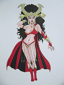 DEJAH-THORIS-by-artist-Siriguana-Original-ink-amp-color-pencil-drawing-signed