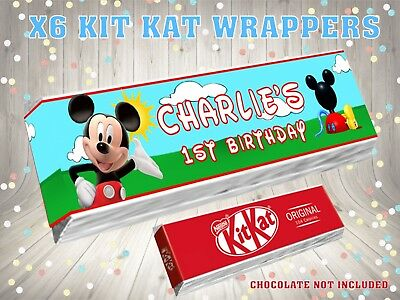 PERSONALISED Minnie Mouse Red Heart Kit Kat KitKat Label Wrapper Ideal Party