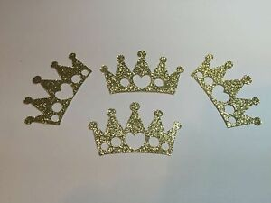 DIE-CUTS-SET-6-CROWNS-GOLD-GLITTER-3-034-H-Embellishments