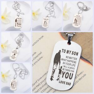 To-My-Son-Dog-Tag-Personalized-Mom-Son-Stainless-Steel-Pendant-Men-Necklaces