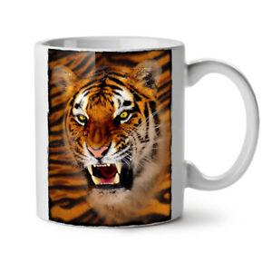 Tiger Beast Angry Animal NEW White Tea Coffee Mug 11 oz | Wellcoda