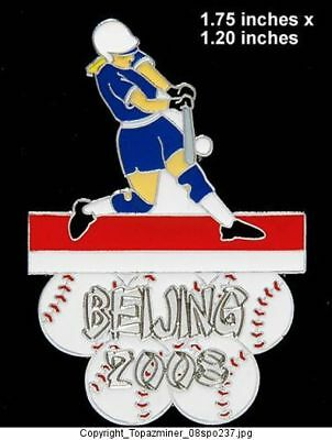 Olympic Pin Beijing 2008 Sport Of Softball Le Silver With Traditional Methods Olympic Memorabilia