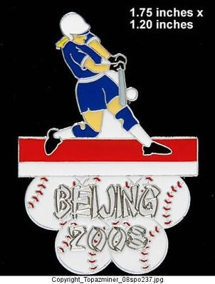 Beijing 2008 Olympic Pin Beijing 2008 Sport Of Softball Le Silver With Traditional Methods