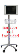 Rolling Roll Stand For Spacelabs 90369 Monitor New Small Wheel