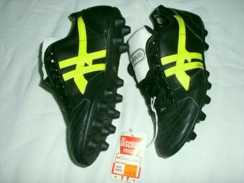 Youth Soccer Crampons Kangroo CUIR FERRARI noir/jaune-Taille 6 Med. D, M