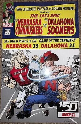 1971 Nebraska Cornhuskers Vs Oklahoma Sooners ESPN Poster ...