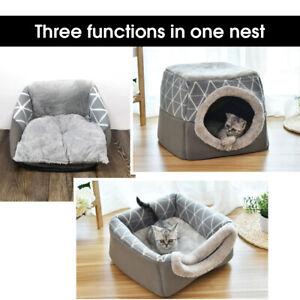divano Letto cuccia per gatti cani piccoli con cuscini Gatto Igloo grotta Nido