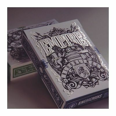 Set of 2 Empire Bloodlines Blue & Green Decks Playing Cards Kings & Crooks New