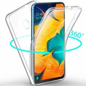 Samsung-Galaxy-A40-Panzerfolie-360-grad-Huelle-Vorne-Hinten-Full-Cover-Case