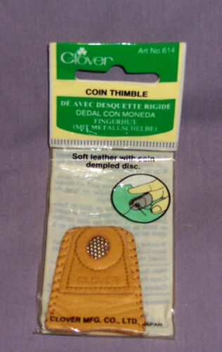 Soft Leather Coin Thimble Finger Protection