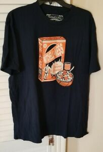 Mitchell-And-Ness-T-Shirt-Dr-J-Breakfast-Of-Champions-Size-XL-wears-like-Large