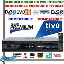 DIGIQUEST DECODER EVO 3.1 COMBO HD PVR LAN,2 SLOT MEDIASET,PREMIUM,TIVUSAT,NAGRA