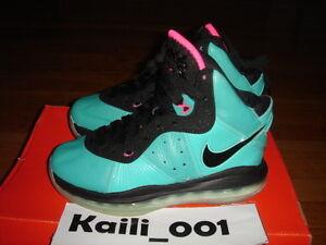 38ca10710cf Nike Air Lebron 8 (GS) Size 4Y South Beach Pre Heat C | eBay