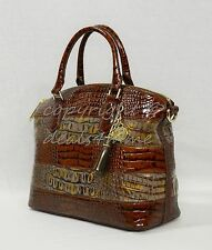 NWT! Brahmin Duxbury Satchel/Shoulder Bag in Fall Tortoise Durham