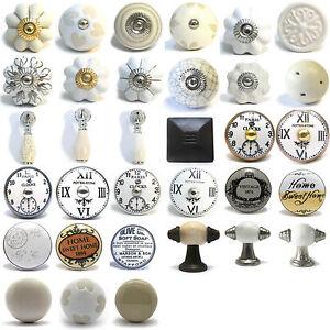 Vintage cer mica porcelana china armario pomos puerta tiradores para cajones ebay - Tiradores de cajones ...