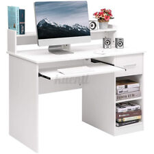 Office Computer Desk With Drawer Keyboard Tray Laptop Pc Table Home Workstation