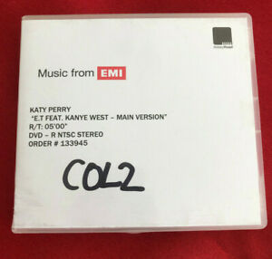 KATY PERRY E.T feat Kanye West main vers UK promo dvd acetate ABBEY ROAD studios