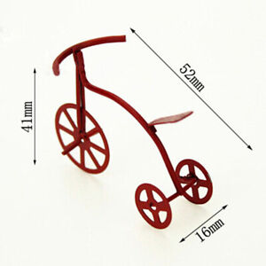 1-12-Miniature-red-bicycle-dollhouse-diy-doll-house-decor-accessories-Jf