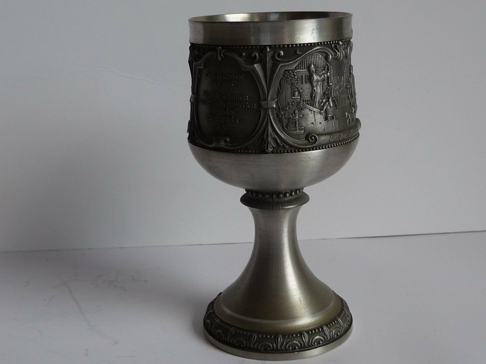 Zinn-Pokale (4), (4), (4), WMF,  Serie Spitzweg, Motive  Der arme Poet  u. Jugendfreund    Creative  47ec72