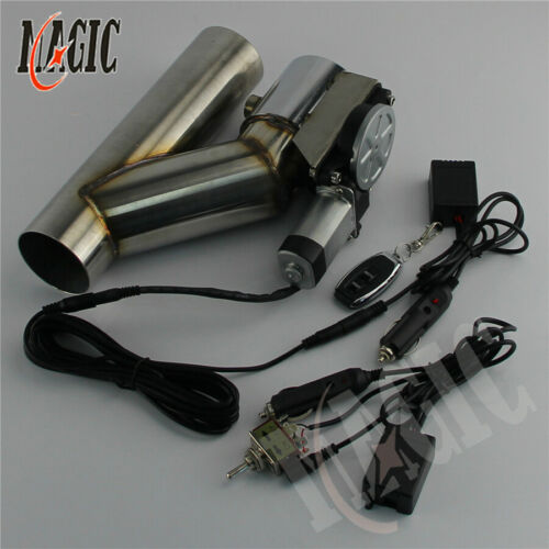 """3/"""" Electric Exhaust Catback Cutout Valve System w//Wireless+Switch Controller Kit"""
