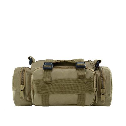 UK Men Tactical Military Waist Fanny Pack Nylon Travel Belt Chest Bag Backpack Z