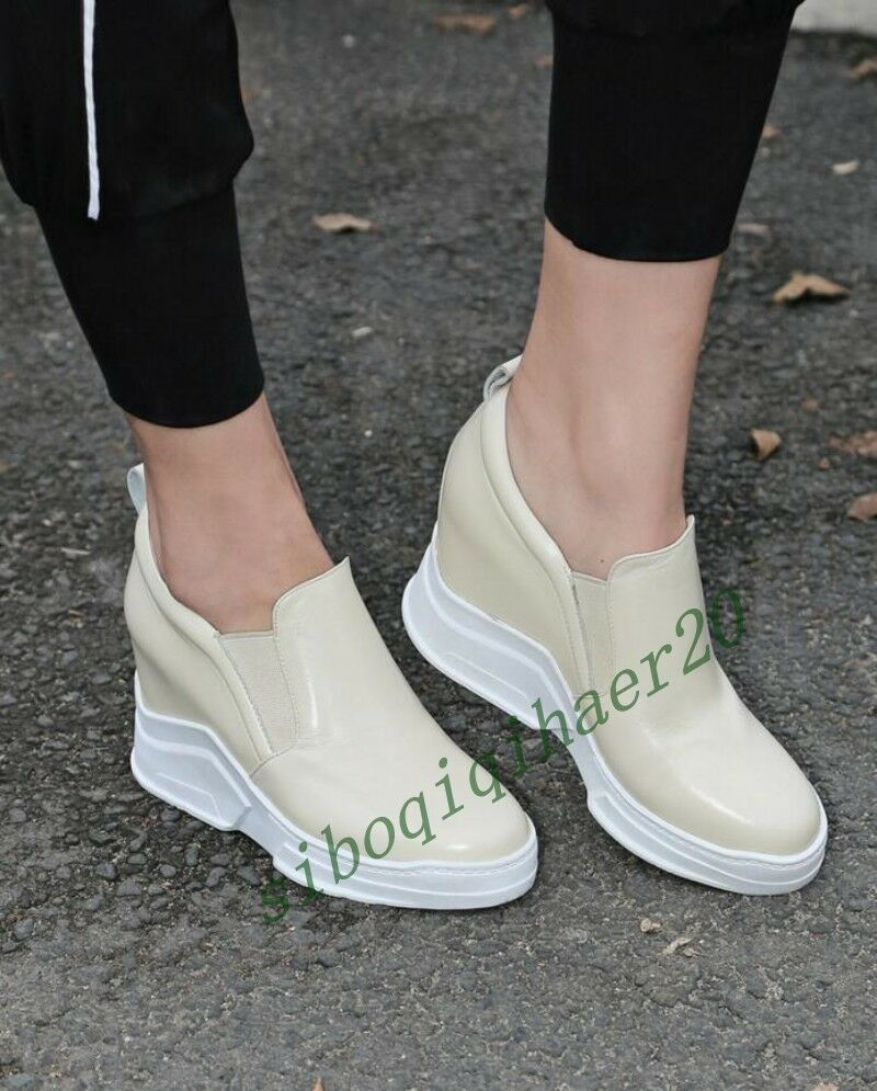 Stylish Ladies High Wedges Heels Platform Casual Fashion Sneakers Shoes Size US8